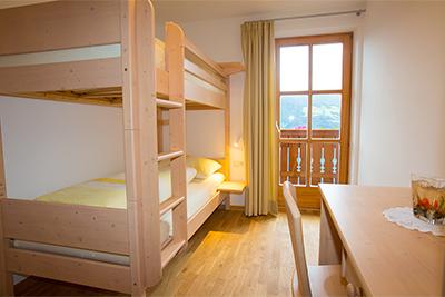 Stockbettuimmer Ferienwohnung Partschins - Ausergrubhof